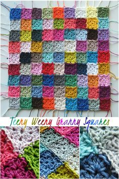 Annie's Place: Teeny Weeny Granny Square Love (no pattern just a two row Granny Square)