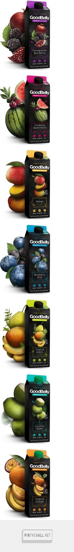 GoodBelly By The Glass probiotic fruit drink designed by LRXD. Pin curated by #SFields99 #packaging #design