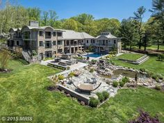 Exterior of luxury home in Potomac, Maryland Pleasant Hill, Places To Rent, Fairytale Cottage, Luxury Homes Dream Houses, Dream Homes, Penthouse Apartment, Million Dollar Homes, International Real Estate, Property Records