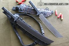 Miller Bros. Blades Wakizashi and Compact Waki. These models are available in Z-Wear PM, CPM 3, & Z-Tuff PM steel. Miller Bros. Blades Custom Handmade Knives, Swords & Tomahawks.