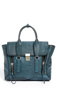 3.1 Phillip Lim 'Pashli - Medium' Shark Embossed Leather Satchel available at #Nordstrom