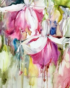 watercolouronyupo #malerei #acuarela #colourfulart #kunst #fabiocembranelli #fuchsia #yupopaper #yupo #painting #cembranelli #colors #akvarel #artbycembranelli #floral #brincosdeprincesa #pintura #fleurs #watercoloronyupo #acquarello