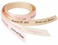 Personalized Ribbon – Personalized Wedding Ribbon – Wedding Ribbon