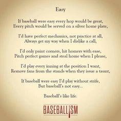 Baseball poem about life