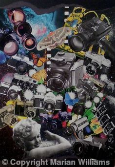 SOLD - The Buzz - Collage 50 x 70 cm