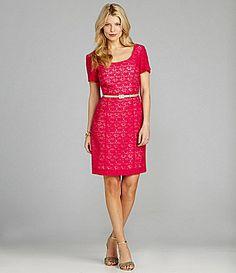 Preston and York Petra Belted Lace Dress #Dillards