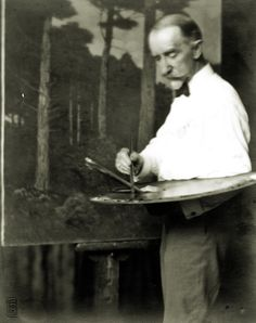 "CHARLES WARREN EATON .... 2/22/1857 - 1937 ... American ... nicknamed ""the pine tree painter"""