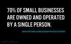 70% of small biz owned and operated by one personiamamomandpop.com  #quote