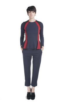 Wren #Fall Contrast Fitted Top