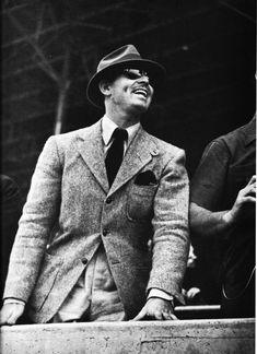 Clark Gable photographed by Peter Stackpole at Santa Anita, 1945.