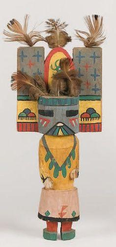 Kachina SALAKO MANA HOPI , circa 1950 / 1960 La coiffe en tableta a perdu