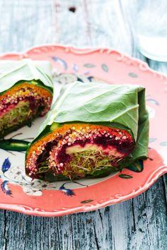 Golubka: Quinoa Collard Wraps from the Sprouted Kitchen Cookbook