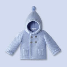 So happy this cute little coat is blue =)