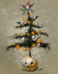 Halloween Christmas Tree.