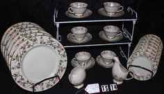 Franciscan Fina China Woodside Pattern FNWOO Vintge Tea Set TS74