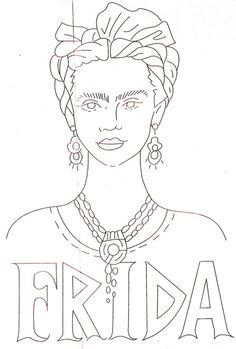 Homemade Hippie (Free Frida Kahlo Embroidery Patterns)