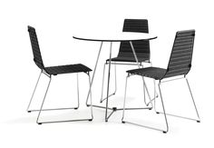 Highway outdoor chair with seatpad and Highway table by Form Us With Love for Mitab