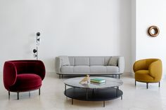 Our picks of best new furniture, lighting & accessories unveiled at Maison & Objet Paris featuring work by design powerhouses and emerging talent. Upholstered Furniture, New Furniture, Furniture Design, Milan Furniture, High Back Chairs, Designer, Branding Design, Upholstery, Lounge