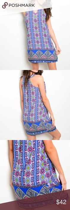 Print Summer Dress Multi Color Print Dress    Lovey summer dress with lining.  Dress & Lining fabric: 100% Polyester Beach Wave Dresses