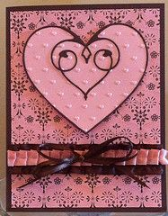 Pink and brown Valentine card