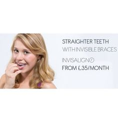 Invisalign is the treatment of getting a straight smile with braces which are invisible! People will hardly know you're using orthodontics. Straighten your smile with #Invisalign here at Chelsea Dental Spa with this unmissable offer! #Chelsea #London #Fulham #kensington #dentistlondon #westlondon #sw6 by chelseadentalspa Our Invisalign Page: http://www.myimagedental.com/services/cosmetic-dentistry/invisalign/ Other Cosmetic Dentistry services we offer…