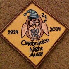 Big Brownie Birthday Badge, Girl Guides, Night Away, Rare!