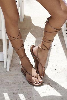 PilyQ Gladiator Sandal in Nude