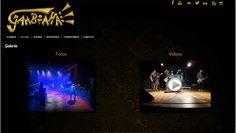 Página Galeria do site da banda Gambiaha