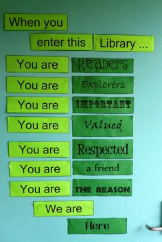 "Library sign - ""When you enter the library, you are.."""