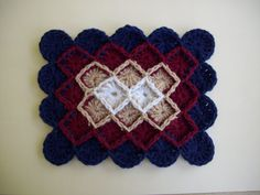 JUST UPDATED! The Wheel Stitch Afghan. A great crochet afghan pattern for intermediate crocheters.