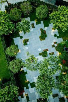 Entrance design of Zhengzhou Tianzhu International Apartment Hotel by L&A Design – mooool Architecture Graphics, Space Architecture, School Architecture, Paving Pattern, Linear Park, Archi Design, Zhengzhou, Arch Model, Entrance Design