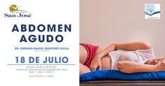 """No faltes a la sesión """"Abdomen agudo"""", este miércoles 18 de julio en el Centro de Convenciones del Hospital San José de Querétaro. Recuerda que la entrada es gratuita y abierta a todo público.  #PorqueTuSaludEsPrimero #RegresoSaludable   ¡Te esperamos!  http://www.hsanjosecelaya.com/"""