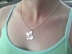 Large Double T Pendant by CoruscateJewelry on Etsy