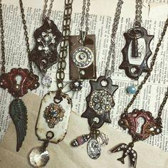 Keyhole necklaces