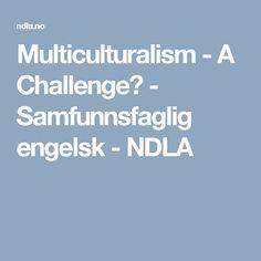 Multiculturalism - A Challenge? - Samfunnsfaglig engelsk - NDLA