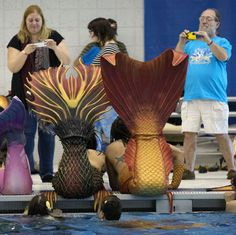 Mermaids and mermen gather for NC Mer-Mania 2016 at the Greensboro Aquatic Center