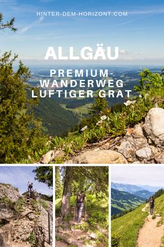 Hiking in the Allgäu is a nice short vacation, just to clear your head. The premium hiking trail Luftiger Grat near Oberstaufen is challenging, but doable. Travel Around The World, Around The Worlds, Short Vacation, Short Break, Blog Voyage, Hiking Trails, Outdoor Travel, Anime Manga, Trekking