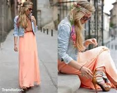faldas largas de mod