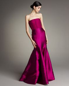 Corsage-Bodice Silk Gown by Akris