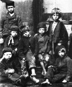 1866 Dr. Barnardo's kids. One of the images that Barnardo used to publicise his work.