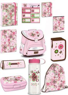 Exclusiv*11tlg. Schmetterling Schulranzen Set Kinder Schulranzen Schulrucksack in Büro & Schreibwaren, Schulbedarf, Ranzen, Taschen & Rucksäcke | eBay