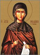 St. Melania the Elder, Foundress, a patrician woman of the Roman Valerii family