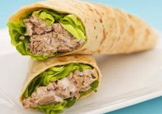 This tuna wrap recipe is a nice alternative using bread. Tuna Wrap Recipe from Grandmothers Kitchen. Healthy Wraps, Healthy Foods To Eat, Healthy Snacks, Healthy Recipes, Paleo Wraps, Healthy Tuna, Wrap Recipes For Lunch, Lunch Ideas, Lunch Snacks