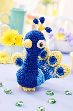 Peacock - 5 Free Cute Amigurumi Patterns oombawkadesigncrochet.com