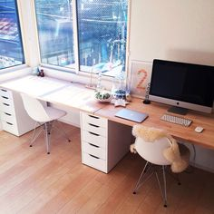 office furniture – My WordPress Website Office Desk Set, Ikea Office, Home Office Storage, Home Office Setup, Home Office Space, Office Workspace, Home Room Design, Home Office Design, Interior Design Living Room