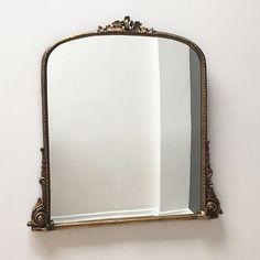 Large Carved Overmantle Mirror x cm Mirror Artwork, Cool Mirrors, Mirror Mirror, Cooler Spiegel, Lounge Mirrors, Modern Mirror Design, Fairytale Bedroom, Spiegel Design, Overmantle Mirror