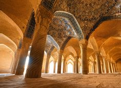 Pilared. Vakil Mosque. Iran.