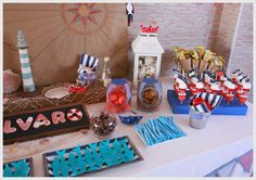 CANDY BAR (MESA DE DULCES),TEMA MARINERO.