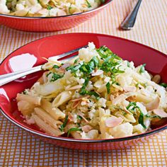 For Saffron Lovers: Cauliflower with Penne.