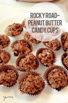 Rocky Road Peanut Butter Candy Cups - Easy NO BAKE Recipe!!